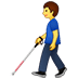 👨‍🦯 man with probing cane Emoji on Twitter Platform