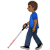 👨🏾‍🦯 man with probing cane: medium-dark skin tone Emoji on Twitter Platform