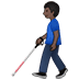 👨🏿‍🦯 man with probing cane: dark skin tone Emoji on Twitter Platform