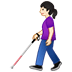 👩🏻‍🦯 woman with probing cane: light skin tone Emoji on Twitter Platform