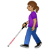 👩🏽🦯 Medium Skin Tone Woman With Probing Cane Emoji on Twitter Platform