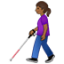 👩🏾🦯 Medium Dark Skin Tone Woman With Probing Cane Emoji on Twitter Platform
