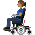👨🏽‍🦼 man in motorized wheelchair: medium skin tone Emoji on Twitter Platform