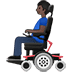 👨🏿‍🦼 man in motorized wheelchair: dark skin tone Emoji on Twitter Platform