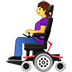👩‍🦼 woman in motorized wheelchair Emoji on Twitter Platform