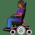 👩🏾🦼 woman in motorized wheelchair: medium-dark skin tone Emoji on Twitter Platform
