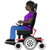 👩🏿‍🦼 woman in motorized wheelchair: dark skin tone Emoji on Twitter Platform