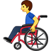 👨‍🦽 man in manual wheelchair Emoji on Twitter Platform