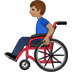 👨🏽‍🦽 man in manual wheelchair: medium skin tone Emoji on Twitter Platform