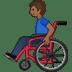 👨🏾🦽 man in manual wheelchair: medium-dark skin tone Emoji on Twitter Platform