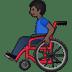 👨🏿🦽 man in manual wheelchair: dark skin tone Emoji on Twitter Platform