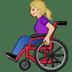 👩🏼🦽 woman in manual wheelchair: medium-light skin tone Emoji on Twitter Platform