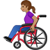👩🏽‍🦽 woman in manual wheelchair: medium skin tone Emoji on Twitter Platform