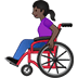 👩🏿‍🦽 woman in manual wheelchair: dark skin tone Emoji on Twitter Platform