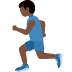 🏃🏿 person running: dark skin tone Emoji on Twitter Platform