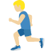 🏃🏼‍♂️ man running: medium-light skin tone Emoji on Twitter Platform