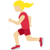 🏃🏼‍♀️ woman running: medium-light skin tone Emoji on Twitter Platform