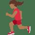 🏃🏾♀️ woman running: medium-dark skin tone Emoji on Twitter Platform