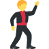 🕺 man dancing Emoji on Twitter Platform