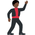 🕺🏿 man dancing: dark skin tone Emoji on Twitter Platform