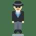 🕴🏼 man in suit levitating: medium-light skin tone Emoji on Twitter Platform