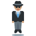 🕴🏽 man in suit levitating: medium skin tone Emoji on Twitter Platform