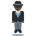 🕴🏿 man in suit levitating: dark skin tone Emoji on Twitter Platform