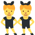👯‍♂️ men with bunny ears Emoji on Twitter Platform