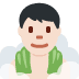 🧖🏻♂️ man in steamy room: light skin tone Emoji on Twitter Platform