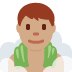 🧖🏽♂️ Medium Skin Tone Man In Steamy Room Emoji on Twitter Platform