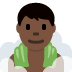 🧖🏿‍♂️ man in steamy room: dark skin tone Emoji on Twitter Platform