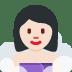 🧖🏻♀️ woman in steamy room: light skin tone Emoji on Twitter Platform