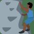 🧗🏿♂️ Dark Skin Tone Man Rock Climbing Emoji on Twitter Platform