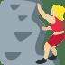 🧗🏼♀️ woman climbing: medium-light skin tone Emoji on Twitter Platform
