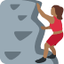 🧗🏾‍♀️ woman climbing: medium-dark skin tone Emoji on Twitter Platform