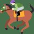 🏇🏻 horse racing: light skin tone Emoji on Twitter Platform