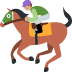 🏇🏽 horse racing: medium skin tone Emoji on Twitter Platform