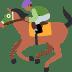 🏇🏾 horse racing: medium-dark skin tone Emoji on Twitter Platform