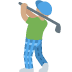 🏌🏽 person golfing: medium skin tone Emoji on Twitter Platform