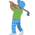 🏌🏾 person golfing: medium-dark skin tone Emoji on Twitter Platform