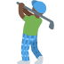 🏌🏿 person golfing: dark skin tone Emoji on Twitter Platform