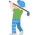 🏌🏻‍♂️ man golfing: light skin tone Emoji on Twitter Platform
