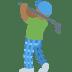 🏌🏾♂️ Medium Dark Skin Tone Man Golfing Emoji on Twitter Platform