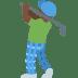 🏌🏿♂️ man golfing: dark skin tone Emoji on Twitter Platform