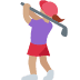 🏌🏽‍♀️ woman golfing: medium skin tone Emoji on Twitter Platform