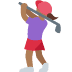 🏌🏾‍♀️ Medium Dark Skin Tone Woman Golfing Emoji on Twitter Platform