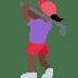🏌🏿♀️ woman golfing: dark skin tone Emoji on Twitter Platform