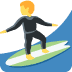 🏄 person surfing Emoji on Twitter Platform
