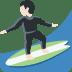 🏄🏻 person surfing: light skin tone Emoji on Twitter Platform