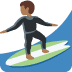 🏄🏾 person surfing: medium-dark skin tone Emoji on Twitter Platform